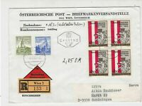 Austria 1965 Registered Wien Cancel FDC Multi Stadtebund Stamps Cover Ref 27516