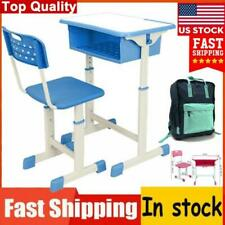 Children Kid Student Desk and Chair Study School Set Height Adjustable Height Us