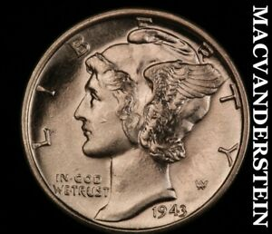 1944-D Mercury Dime-Choice Brilliant Uncirculated ++++++ Luster  #X6845