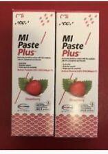 GC MI PASTE Plus Strawberry TOOTH CREAM 2 TUBEs OF 40 gm Excellent