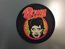 DAVID BOWIE ZIGGY Embroidered Iron On Patch 3 ""