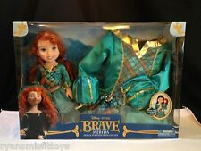 NEW Disney's BRAVE Princess Merida Toddler Doll & Dress Gift Set -Dress 2T- 4T