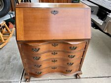 Maddox Colonial Antique Mahogany Secretary Desk / Dresser great vintage condit