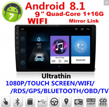 "9""Touch Double 2Din Car Stereo Radio GPS Wifi BT DAB Mirror Link OBD Android 8.1"