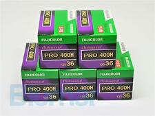 5x Fuji PRO 400H 35mm COLOR NEGATIVE film FRESH 6/2018