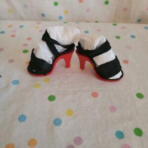 """VTGBlack Elastic/Strap Red Sole Fashion Doll Heels 2"""" x 1.16"""" Fits 18-21"""" Doll"""