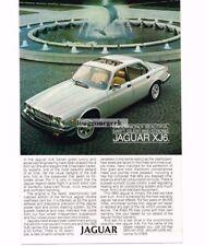 1983 Jaguar XJ6 Silver 4-door Vtg Print Ad