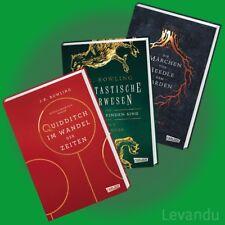 HOGWARTS-SCHULBÜCHER   J.K. ROWLING   Harry Potter - alle 3 Hardcover-Bände