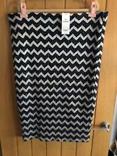 Brand New With Tags Dorothy Perkins Navy And Silver Zig Zag Skirt - Size 22