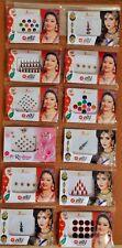 Bindi 12 Full Pack Lot Assorted Multicolor Bindi Forehead Tattoos Stickers