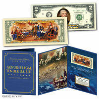 Declaration of Independence 2-Sided Genuine $2 Bill in 8x10 Collectors Display