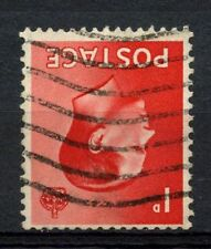 Gb Keviii 1936 Sg#458wi 1d Scarlet Watermark Inverted Used #A50675