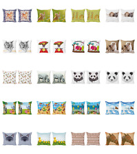 Ambesonne Animal Art Cushion Cover Set of 2 for Couch and Bed in 4 Sizes