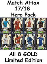 MATCH Attax 17/18 HERO PACK 8 GOLD LIMITED EDITION. LUIZ ROONEY koscielny + più