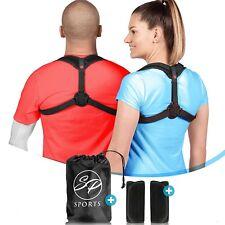 Soporte Corrector Postural Espalda Brace Unisex eficaz cómodo Mediano Negro