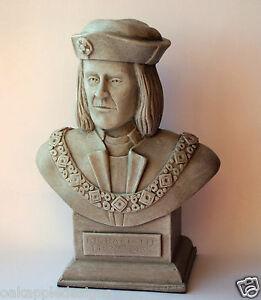 King Richard III Sculpture Bust Ornament Collectable Medieval Ricardian Gift New