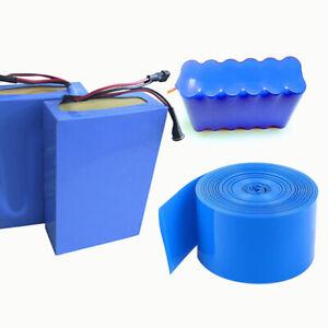 2M PVC 18650 Li-ion Battery Heat Shrink Tube Wrap Skin Shrinkable Tape Sleeves