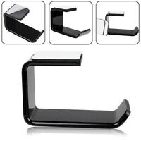 Acrylic Headphone Stand Headset Mount Holder Hanger Hook Tape Under Desk Hot