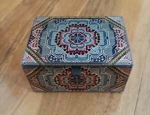 Matthew Williamson Glass Trinket Keepsake Box Jewellery,  Brand New