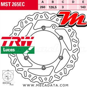 Disque de frein Avant TRW Lucas MST 265 EC KTM SX 250 (VBKMXN...) 2003+