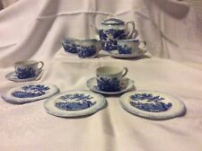 Ridgeways blue and white child's Humphrey Clock part  tea service c1890/1900 .