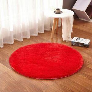 Bathroom Non Slip Plush Carpet Toilet Foot Pad Eco Friendly Home Solid Round Rug