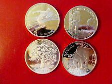 Niue / Cook Islands, 4 x Dollar, 1990 - 1993, Silver, Pf