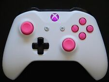 New Version Custom Matte White & Pink Xbox One S Bluetooth Wireless Controller