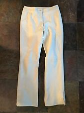 White/Cream Leather Pants by Icicle 100% Genuine Women's Pants Sz 6