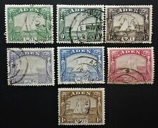 ADEN 7 DIFF. USED 1937 DHOW ISSUES   CAN.SHIP$1.99 COMB.SHIPPING