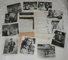 OLD MOVIE DEER HUNTER PHOTO PRESS KIT PHOTOS STREEP WALKEN DE NIRO & ROLEX WATCH