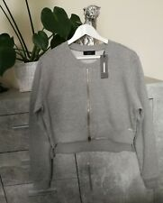 DIESEL LADIES GREY LONG SLEEVES ZIP FRONT JUMPER SIZE XS NEW RRP £125
