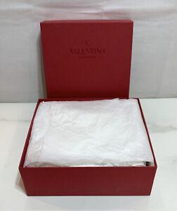 "Valentino Garavani Empty Shoe Box Only 12"" x 10"" x 4.5"" with Tissue Paper"