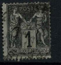 FRANCIA 1877-90, 1c Nero Usato #D50404