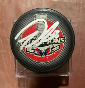 Tom Wilson Washington Capitals 2018 Stanley Cup Champion Autographed Signed Puck