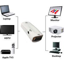HDMI a VGA Convertidor de adaptador de vídeo con salida de audio para PC HDTV