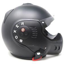 Roof Boxer V8 Full Motorcycle Motorbike Helmet - Matt Black - SM Small Medium