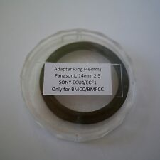 Adapter Ring (46mm) Panasonic 14mm 2.5 Sony ECU1/ECF1 Only For BMCC/BMPCC