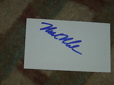 Mark McCumber Signed 3x5 index Card