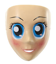 Elope Blue Eyed Anime Mask Costume Mardi Gras Halloween Fancy Dress