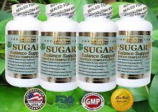 4 x Healthy Blood Sugar Support Advanced Glucose Defense Formula Now 1600mg USA