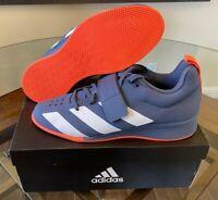 $200 NIB Adidas Adipower 2 II Weightlifting Blue G54643 Women's Size 10 Men's 9