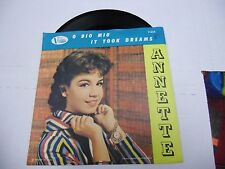 ANNETTE O Dio Mio/It Took Dreams 45 RPM Buena Vista Records VG+