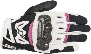 Alpinestars Stella SMX-2 Air Carbon V2 Leather Glove Black/White/Pink SHIPS FREE
