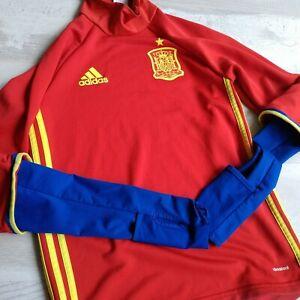 Spain Team Training Jacket Long Sleeve Adidas AI4859 Trikot Mens Size XS UA1