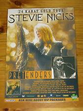 STEVIE NICKS - 2017 AUSTRALIA 24 KARAT GOLD Tour  Laminated Poster FLEETWOOD MAC