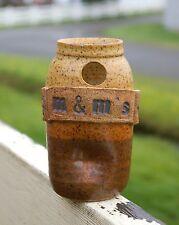 Spun Pottery Richard & Susan Roth Winlock Washington M&M's Dispenser Jar Brown