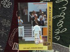 1998 BENSON & HEDGES FINAL PROGRAMME - ESSEX v LEICS - SIGNED BY ASHLEY COWANS