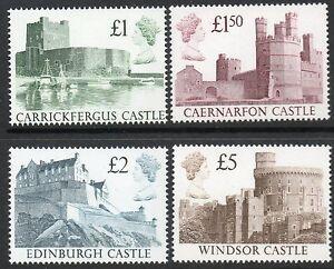 1988 High value castles set u/m face £9.50 cat £35