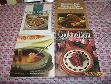 COOK BOOK LOT: Cooking Italian, Cooking Light, Fondue, Time-Life: Appetizers ++
